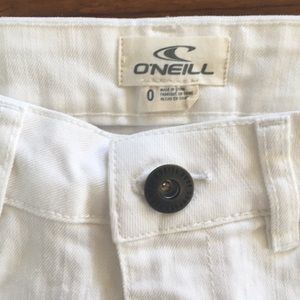 O'Neill Shorts - O'Neill Women's Jean Shorts Wesley White sz 0 NWOT